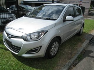 2013 Hyundai i20 PB MY12.5 Active Silver 4 Speed Automatic Hatchback.
