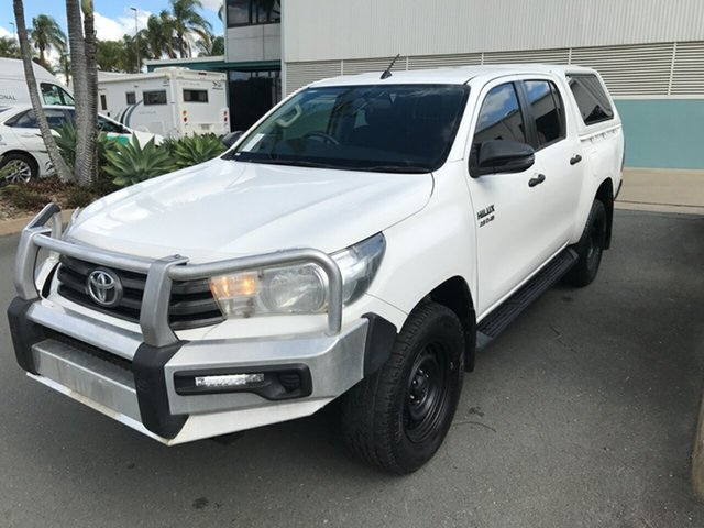 Used Toyota Hilux GUN126R SR Double Cab Acacia Ridge, 2017 Toyota Hilux GUN126R SR Double Cab White 6 speed Automatic Utility
