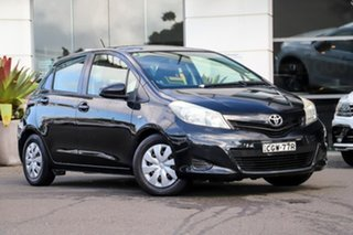 2012 Toyota Yaris NCP130R YR Black 4 Speed Automatic Hatchback.