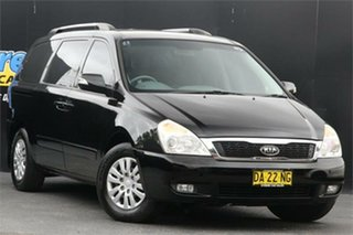 2010 Kia Grand Carnival VQ MY11 SI Black 6 Speed Sports Automatic Wagon.