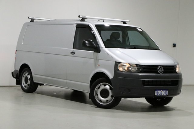 Used Volkswagen Transporter T5 MY10 132 TDI LWB Med Bentley, 2010 Volkswagen Transporter T5 MY10 132 TDI LWB Med Silver 7 Speed Auto Direct Shift Van
