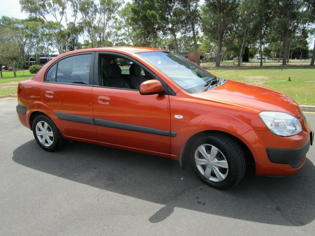 Used Kia Rio JB EX Glenelg, 2006 Kia Rio JB EX Orange 5 Speed Manual Sedan