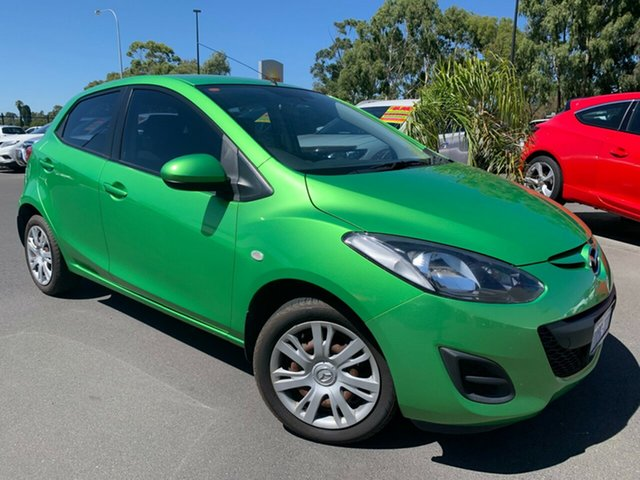 Used Mazda 2 DE10Y2 MY12 Neo Bunbury, 2012 Mazda 2 DE10Y2 MY12 Neo Green 5 Speed Manual Hatchback