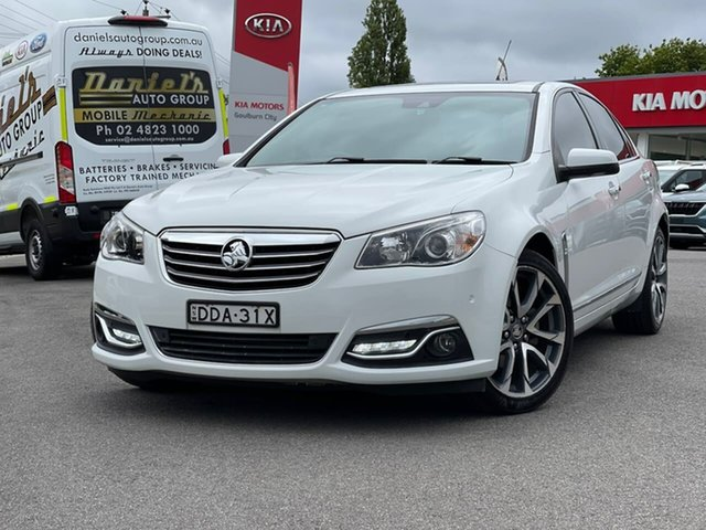 Used Holden Calais V Goulburn, 2016 Holden Calais V White Sports Automatic Sedan