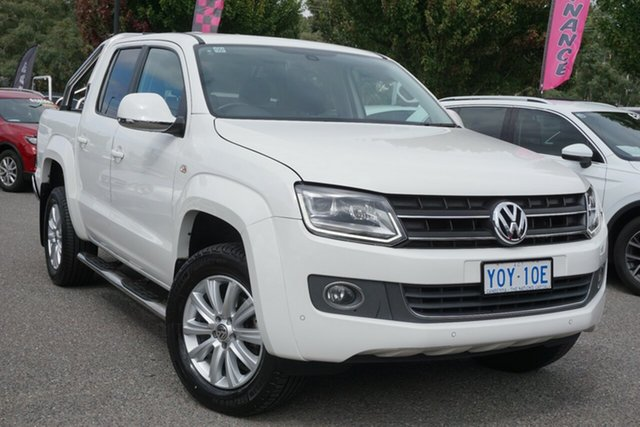 Used Volkswagen Amarok 2H MY16 TDI420 4Motion Perm Highline Phillip, 2015 Volkswagen Amarok 2H MY16 TDI420 4Motion Perm Highline Candy White 8 Speed Automatic Utility
