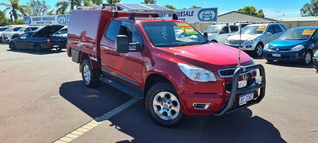 Used Holden Colorado RG MY13 LTZ Space Cab East Bunbury, 2013 Holden Colorado RG MY13 LTZ Space Cab Red 6 Speed Sports Automatic Utility