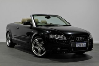 2009 Audi A4 B7 MY06 S Line Tiptronic Black 6 Speed Sports Automatic Cabriolet.
