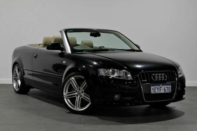 Used Audi A4 B7 MY06 S Line Tiptronic Bayswater, 2009 Audi A4 B7 MY06 S Line Tiptronic Black 6 Speed Sports Automatic Cabriolet