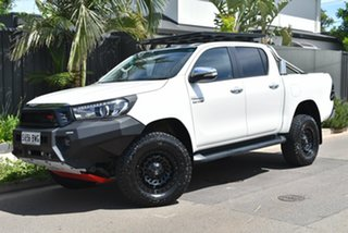 2015 Toyota Hilux GUN126R SR5 Double Cab White 6 Speed Automatic Utility.