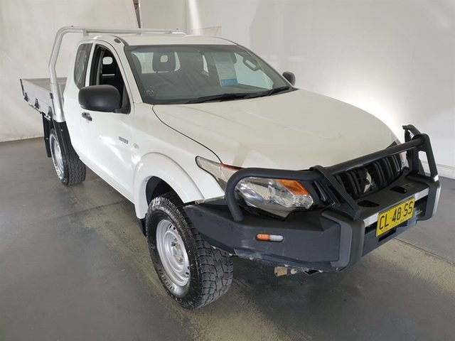 Used Mitsubishi Triton MQ MY17 GLX Club Cab Maryville, 2016 Mitsubishi Triton MQ MY17 GLX Club Cab White 6 Speed Manual Cab Chassis