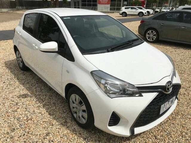 Used Toyota Yaris NCP130R MY15 Ascent Wangaratta, 2015 Toyota Yaris NCP130R MY15 Ascent Glacier White 4 Speed Automatic Hatchback