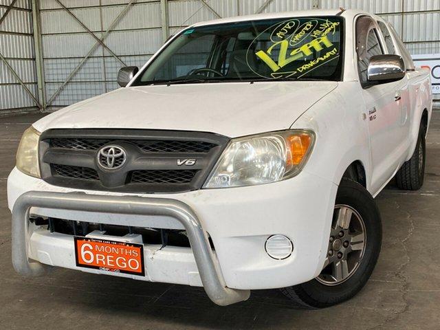 Used Toyota Hilux GGN15R MY07 SR 4x2 Rocklea, 2006 Toyota Hilux GGN15R MY07 SR 4x2 White 5 Speed Automatic Utility