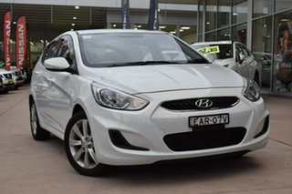 2019 Hyundai Accent RB6 MY19 Sport White 6 Speed Manual Hatchback.