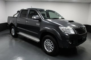 2014 Toyota Hilux KUN26R MY14 SR5 Double Cab Grey 5 Speed Automatic Utility.