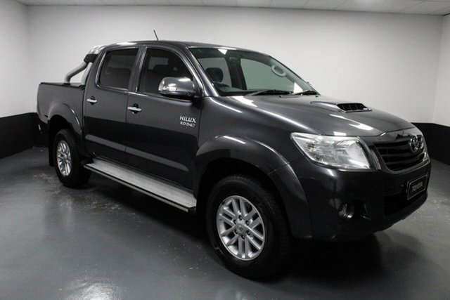 Used Toyota Hilux KUN26R MY14 SR5 Double Cab Hamilton, 2014 Toyota Hilux KUN26R MY14 SR5 Double Cab Grey 5 Speed Automatic Utility