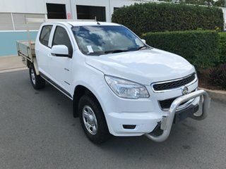 2014 Holden Colorado RG MY14 LX Crew Cab 4x2 White 6 speed Automatic Cab Chassis.