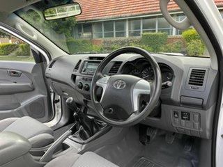 2013 Toyota Hilux KUN26R SR White 5 Speed Manual Single Cab