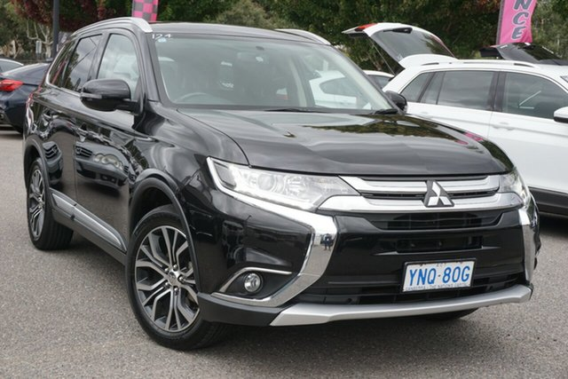 Used Mitsubishi Outlander ZK MY17 LS 2WD Phillip, 2017 Mitsubishi Outlander ZK MY17 LS 2WD Black 6 Speed Constant Variable Wagon