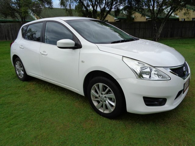 Used Nissan Pulsar C12 ST Kippa-Ring, 2013 Nissan Pulsar C12 ST White 1 Speed Constant Variable Hatchback