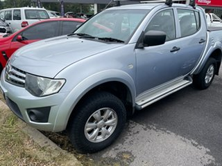 2014 Mitsubishi Triton MN MY15 GLX Double Cab Cool Silver 5 Speed Manual Utility.
