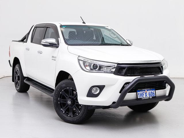 Used Toyota Hilux GUN126R SR5 (4x4), 2016 Toyota Hilux GUN126R SR5 (4x4) White 6 Speed Automatic Dual Cab Utility