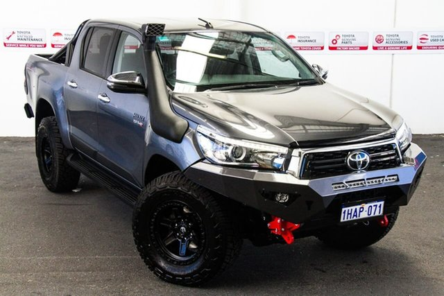 Pre-Owned Toyota Hilux GUN126R SR5 Double Cab Myaree, 2019 Toyota Hilux GUN126R SR5 Double Cab Graphite 6 Speed Sports Automatic Utility