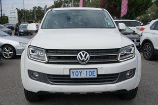 2015 Volkswagen Amarok 2H MY16 TDI420 4Motion Perm Highline Candy White 8 Speed Automatic Utility.