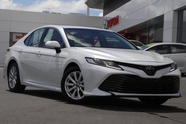 Pre-Owned Toyota Camry ASV70R Ascent Woolloongabba, 2019 Toyota Camry ASV70R Ascent Frosted White 6 Speed Sports Automatic Sedan
