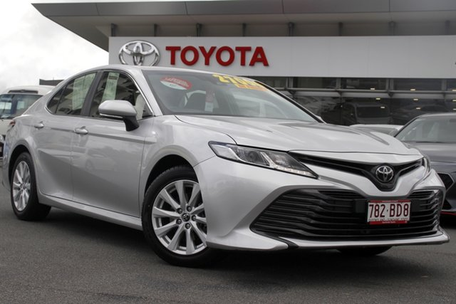 Pre-Owned Toyota Camry ASV70R Ascent Upper Mount Gravatt, 2019 Toyota Camry ASV70R Ascent Silver 6 Speed Sports Automatic Sedan