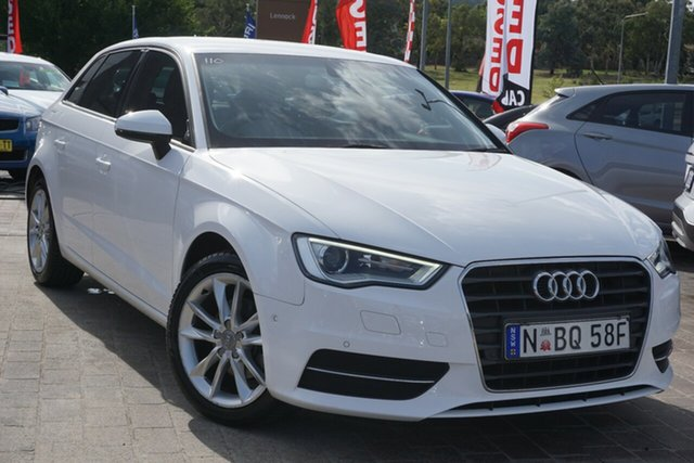 Used Audi A3 8V MY15 Attraction Sportback S Tronic Phillip, 2015 Audi A3 8V MY15 Attraction Sportback S Tronic White 7 Speed Sports Automatic Dual Clutch