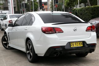 2016 Holden Commodore Vfii MY16 SV6 Black Edition White 6 Speed Automatic Sedan.