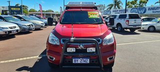 2013 Holden Colorado RG MY13 LTZ Space Cab Red 6 Speed Sports Automatic Utility.