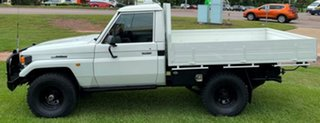1997 Toyota Landcruiser HZJ75RP White 5 Speed Manual Cab Chassis
