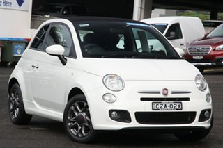 2014 Fiat 500C Series 1 S Dualogic White 5 Speed Sports Automatic Single Clutch Convertible.