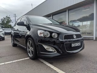 2013 Holden Barina TM MY14 RS Black 6 Speed Manual Hatchback.
