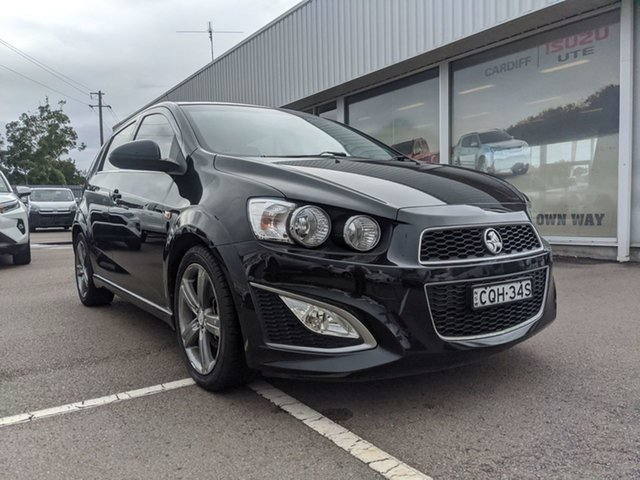 Pre-Owned Holden Barina TM MY14 RS Cardiff, 2013 Holden Barina TM MY14 RS Black 6 Speed Manual Hatchback