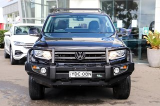 2015 Volkswagen Amarok 2H MY15 TDI420 4Motion Perm Highline Black 8 Speed Automatic Utility