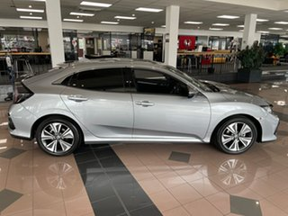 2020 Honda Civic 10th Gen MY20 VTi-L Lunar Silver 1 Speed Constant Variable Hatchback.