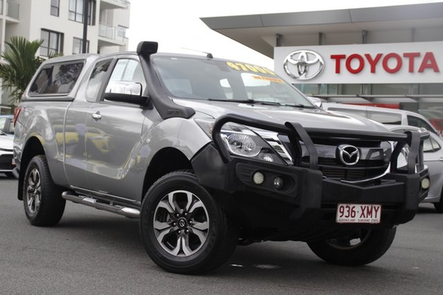 Pre-Owned Mazda BT-50 UR0YG1 XTR Freestyle Upper Mount Gravatt, 2017 Mazda BT-50 UR0YG1 XTR Freestyle Silver 6 Speed Manual Utility