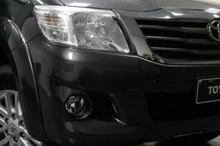 2014 Toyota Hilux KUN26R MY14 SR5 Double Cab Grey 5 Speed Automatic Utility.