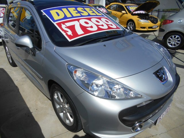 Used Peugeot 207 A7 XT Springwood, 2008 Peugeot 207 A7 XT Silver 5 Speed Manual Hatchback