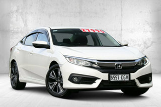 2018 Honda Civic 10th Gen MY18 VTi-L White Orchid 1 Speed Constant Variable Sedan.