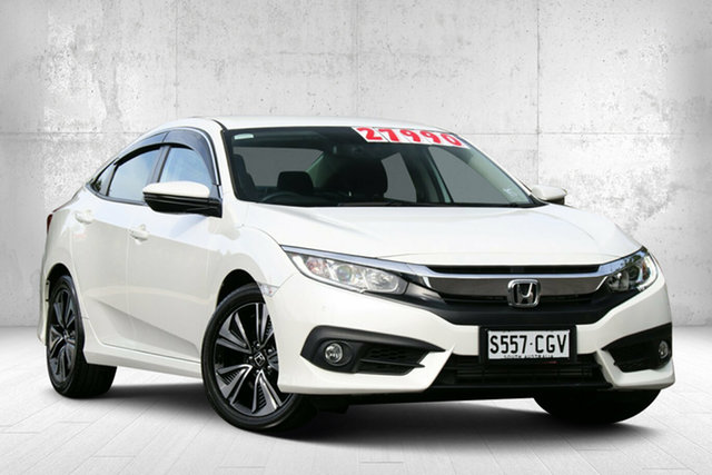 Used Honda Civic 10th Gen MY18 VTi-L Valley View, 2018 Honda Civic 10th Gen MY18 VTi-L White Orchid 1 Speed Constant Variable Sedan