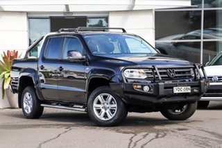 2015 Volkswagen Amarok 2H MY15 TDI420 4Motion Perm Highline Black 8 Speed Automatic Utility.