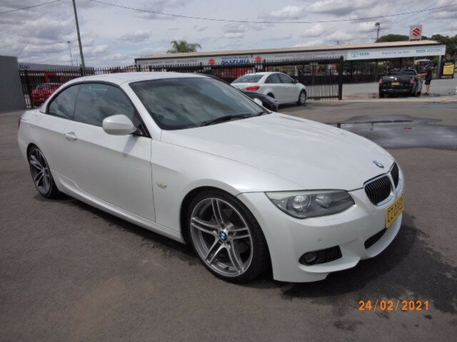 Used BMW 325i E93 MY11 Wagga Wagga, 2011 BMW 325i E93 MY11 White 6 Speed Auto Steptronic Convertible