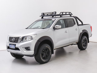 2016 Nissan Navara NP300 D23 RX (4x4) Silver 6 Speed Manual Double Cab Chassis.