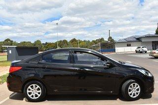 2013 Hyundai Accent RB Active Black 4 Speed Sports Automatic Sedan.