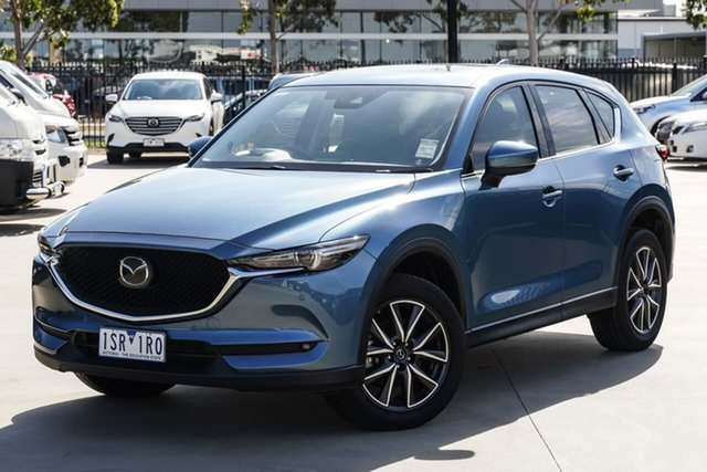 Used Mazda CX-5 KF4WLA GT SKYACTIV-Drive i-ACTIV AWD Narre Warren, 2019 Mazda CX-5 KF4WLA GT SKYACTIV-Drive i-ACTIV AWD Blue 6 Speed Sports Automatic Wagon