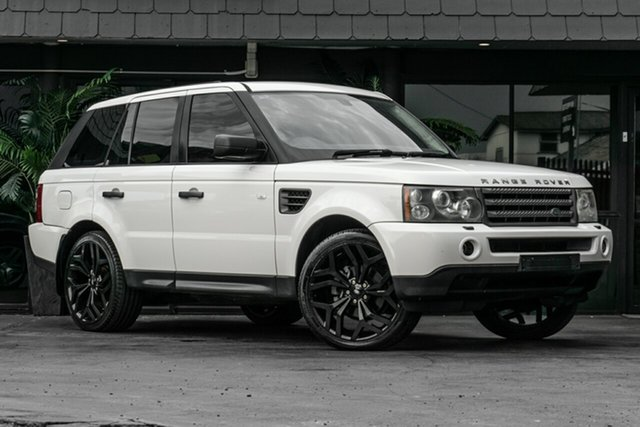 Used Land Rover Range Rover Sport L320 08MY TDV6 Bowen Hills, 2008 Land Rover Range Rover Sport L320 08MY TDV6 White 6 Speed Sports Automatic Wagon