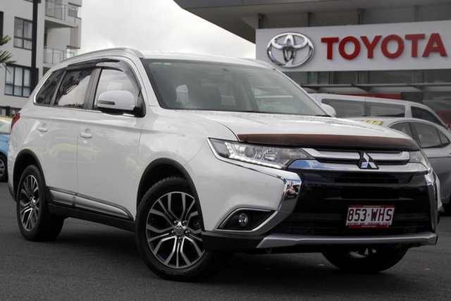 Pre-Owned Mitsubishi Outlander ZK MY16 LS 2WD Upper Mount Gravatt, 2016 Mitsubishi Outlander ZK MY16 LS 2WD White 6 Speed Constant Variable Wagon